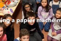 Amazing papier mâché mask un primary 3