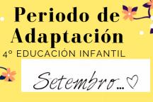 Periodo de Adaptación 4º Infantil