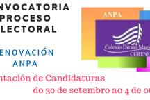Renovación ANPA: Eleccións