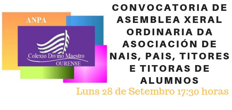 CONVOCATORIA ORDINARIA ANPA 2019