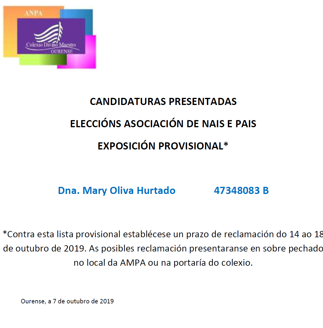 ANPA 2019 CANDIDATURAS PRESENTADAS CARTA