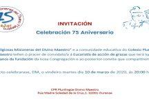 INVITACIÓN CELEBRACIÓN 75 ANIVERSARIO